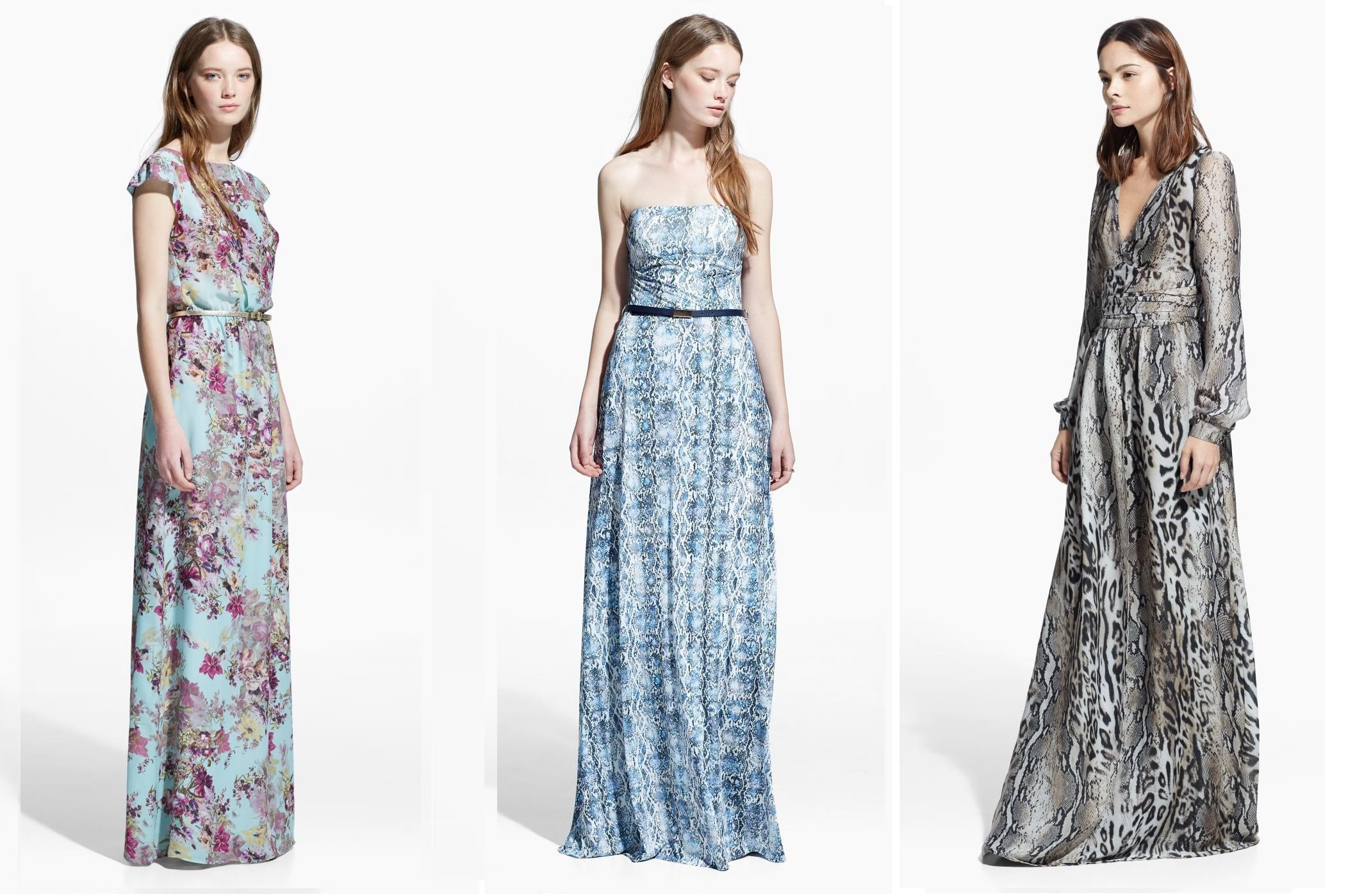 Vestidos de festa Mango 2015: vestidos longos estampados